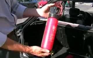 Огнетушитель для автомашины срок действия