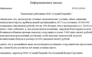 Образец письма в банк о деятельности организации