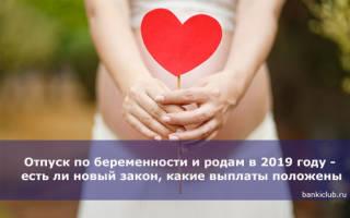 Закон отпуск по беременности и родам