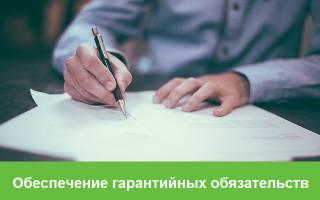 Гарантийные обязательства по контракту срок