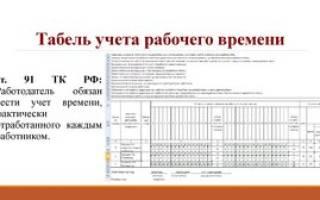 Заполнение табеля при увольнении работника