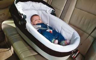 Как правильно пристегнуть автолюльку на заднем седенье