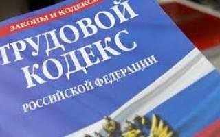 Увольнение по трудовому кодексу РФ 2020 год