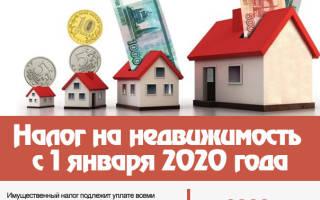 Задолженность по налогу на имущество физических лиц 2020
