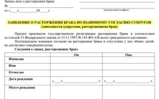 Перечень документов для подачи заявления на развод