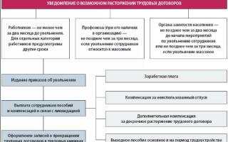 Массовое увольнение по сокращению штатов ликвидация организации