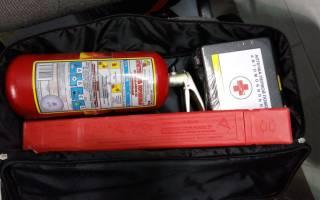 Штраф за отсутствие огнетушителя и аптечки в 2020 году
