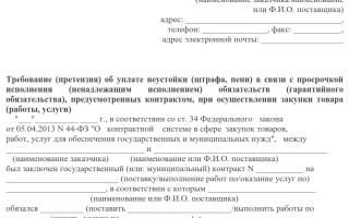 Претензия на невыполнение условий договора бланк